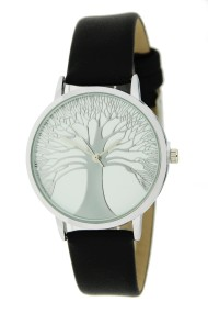 "Ernest horloge ""Tree Of Life"" zwart"