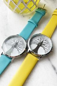 """Ernest horloge """"Tree Of Life"""" mostard"""