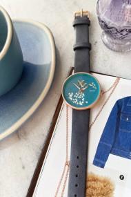 "Ernest horloge ""Vespera"" blauw"