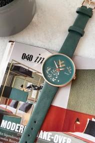 "Ernest horloge ""Vespera"" donkergroen"