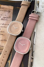 "Ernest horloge ""Taryn"" taupe-beige"