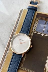 "Ernest horloge ""Fallon"" donkerblauw"