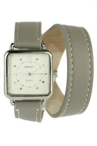 """Ernest horloge """"Double Wrap"""" grijs"""