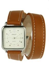 """Ernest horloge """"Double Wrap"""" camel"""