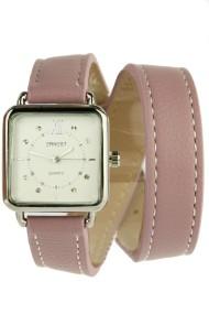 """Ernest horloge """"Double Wrap"""" oudroze"""
