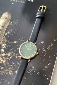 "Ernest horloge ""Goldy"" zwart"