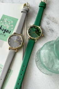 "Ernest horloge ""Goldy"" groen"