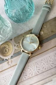 """Ernest horloge """"Goldy"""" lichtblauw"""