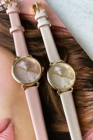 """Ernest horloge """"Goldy"""" pink"""