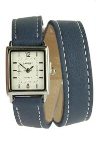 """Ernest horloge """"Double Mini Wrap"""" blauw"""