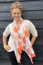 "Sjaal ""Crissy"" oranje"