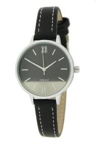 """Ernest horloge """"Silver-Pippa"""" zwart"""