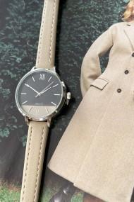 "Ernest horloge ""Silver-Pippa"" beige"
