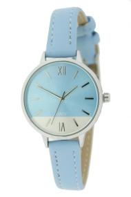 """Ernest horloge """"Silver-Pippa"""" lichtblauw"""