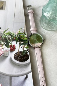 "Ernest horloge ""Silver-Pippa"" lichtroze"