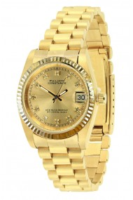 """Philippe Constance """"Large Serrated Gold"""" stones gold"""