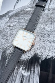 """Ernest horloge """"Croco-Square"""" grijs"""