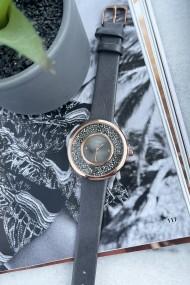 """Ernest horloge """"Grace-Glitter"""" donkergrijs"""