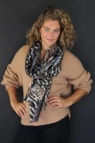 """Sjaal """"Lisa-Leopard"""" taupe"""