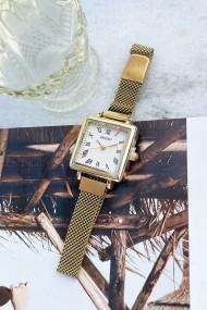 "Ernest horloge ""Square-Metal"" goud"