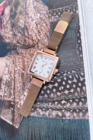 "Ernest horloge ""Square-Metal"" rosé"