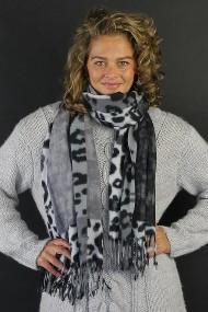 """Sjaal """"Wooly Leopard"""" zwart-grijs"""
