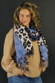 "Sjaal ""Wooly Leopard"" blauw"