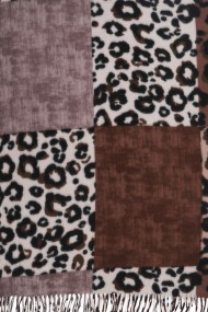 """Sjaal """"Wooly Leopard"""" bruin"""