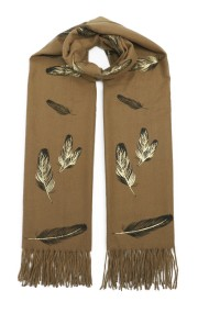 """Sjaal """"Gold-Feathers"""" camel"""