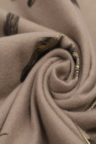 """Sjaal """"Gold-Feathers"""" taupe"""
