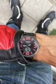"""Ernest herenhorloge """"Kanticho"""" zwart-rood"""