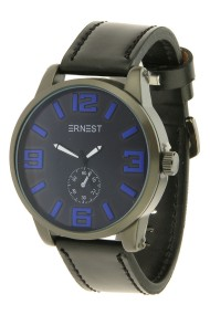 "Ernest herenhorloge ""Kanticho"" zwart-blauw"
