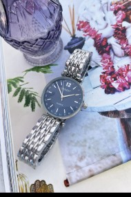 "Ernest horloge ""Tatum"" zilver-blauw"