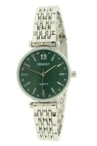 """Ernest horloge """"Tatum"""" zilver-groen"""