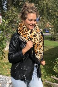"""Omslagdoek """"Leopard-Luxury"""" camel"""