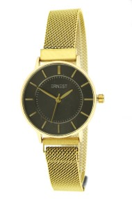 "Ernest horloge ""Amber"" goud-zwart"