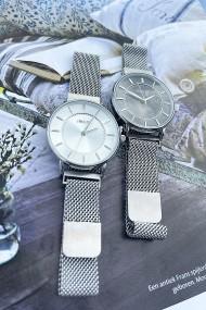 """Ernest horloge """"Amber"""" zilver-zilver"""