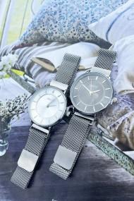 """Ernest horloge """"Amber"""" zilver-zwart"""