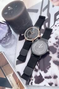 """Ernest horloge """"Amber"""" zwart-rosé"""