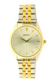"""Ernest horloge """"Charlie"""" bi-color goud-zilver"""