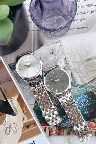 "Ernest horloge ""Charlie"" zilver-zwart"