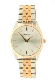 """Ernest horloge """"Charlie"""" bi-color rosé-zilver"""