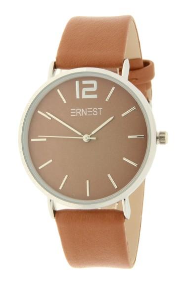 Ernest horloge Silver-Cindy AW21 caramel