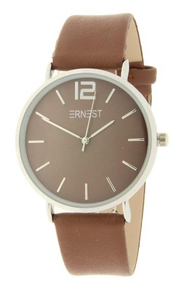 Ernest horloge Silver-Cindy AW21 chocolate