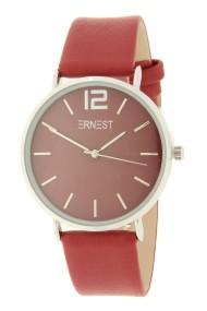 Ernest horloge Silver-Cindy AW21 donkerrood