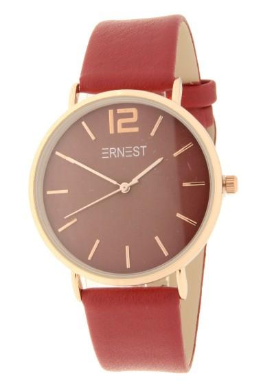 Ernest horloge Rosé-Cindy AW21 donkerrood