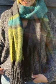 """Sjaal """"Sue"""" geel-groen"""