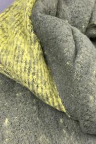 """Sjaal """"Nynke-Double-Color"""" groen-geel"""