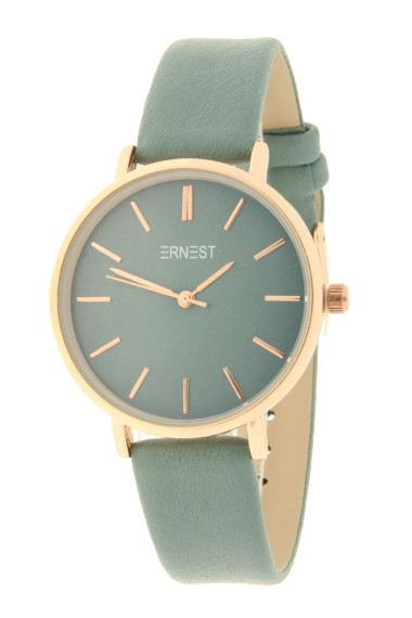 Ernest horloge Rosé-Cindy-Medium AW21 groen-blauw