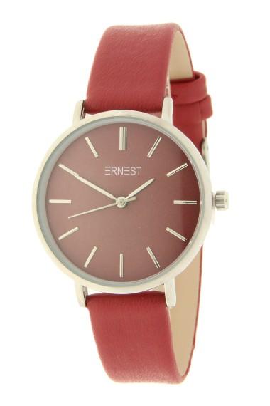 Ernest horloge Silver-Cindy-Medium AW21 donkerrood